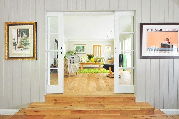 Schiebetür Wohnzimmer, wohnraumtüren wohnzimmer weiße schiebetüren rahmen glas #fenster, Design ideen