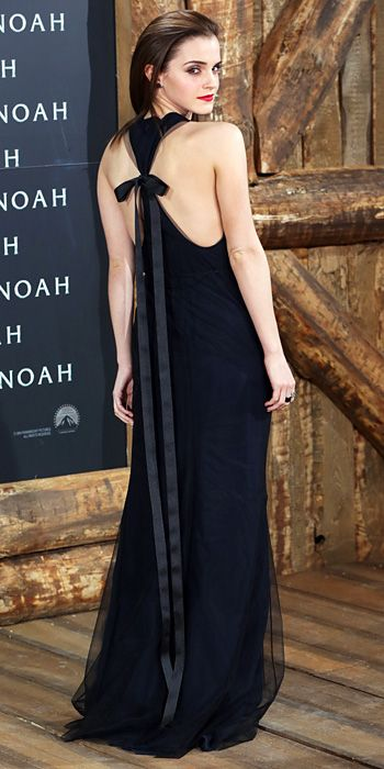 Look of the Day - March 14, 2014 - Emma Watson in Wes Gordon #InStyle. Going to do this to a black maxi dress