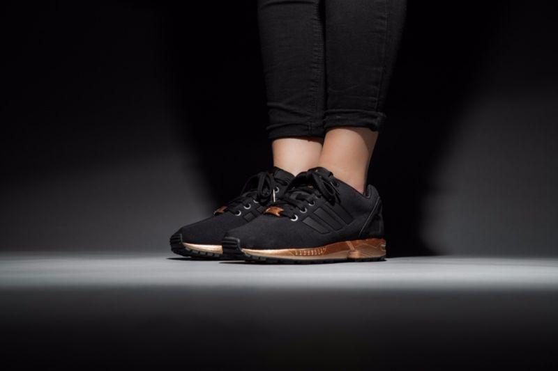 adidas zx flux zwart bronze