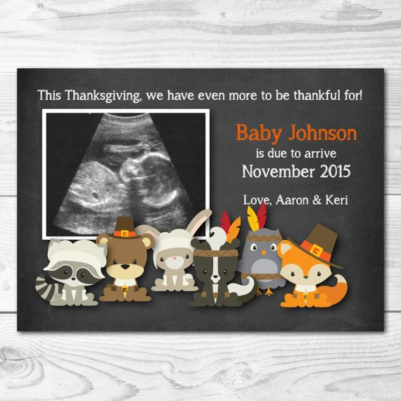 Thanksgiving Themed Pregnancy Announcement - Pregnancy Reveal with