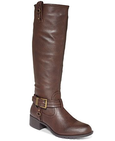 Rampage Idera Riding Boots black and brown pair please, size 9