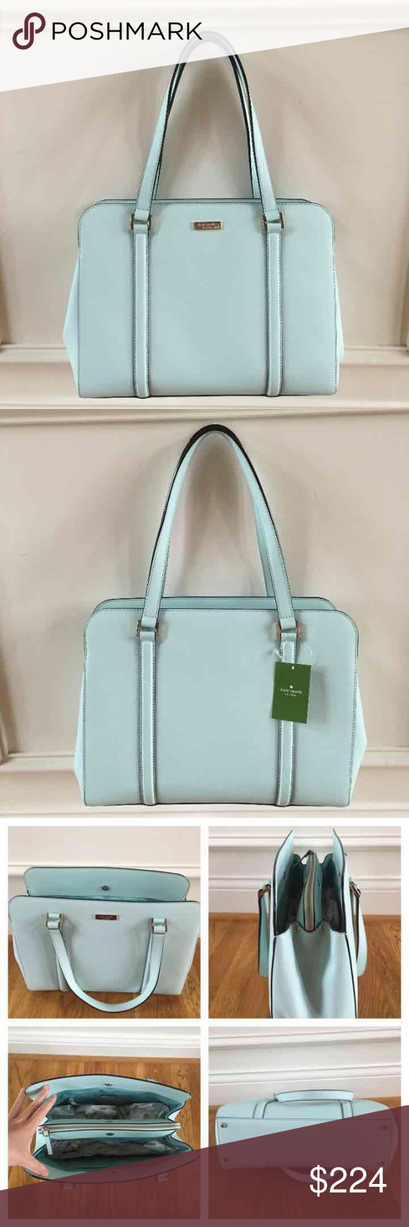 ❗️SALE❗️$358 Kate Spade purse New with tags $358 Kate spade miles newbury lane purse in graceblue// brand new, perfect condition, never worn before. Kate Spade Bags Shoulder Bags