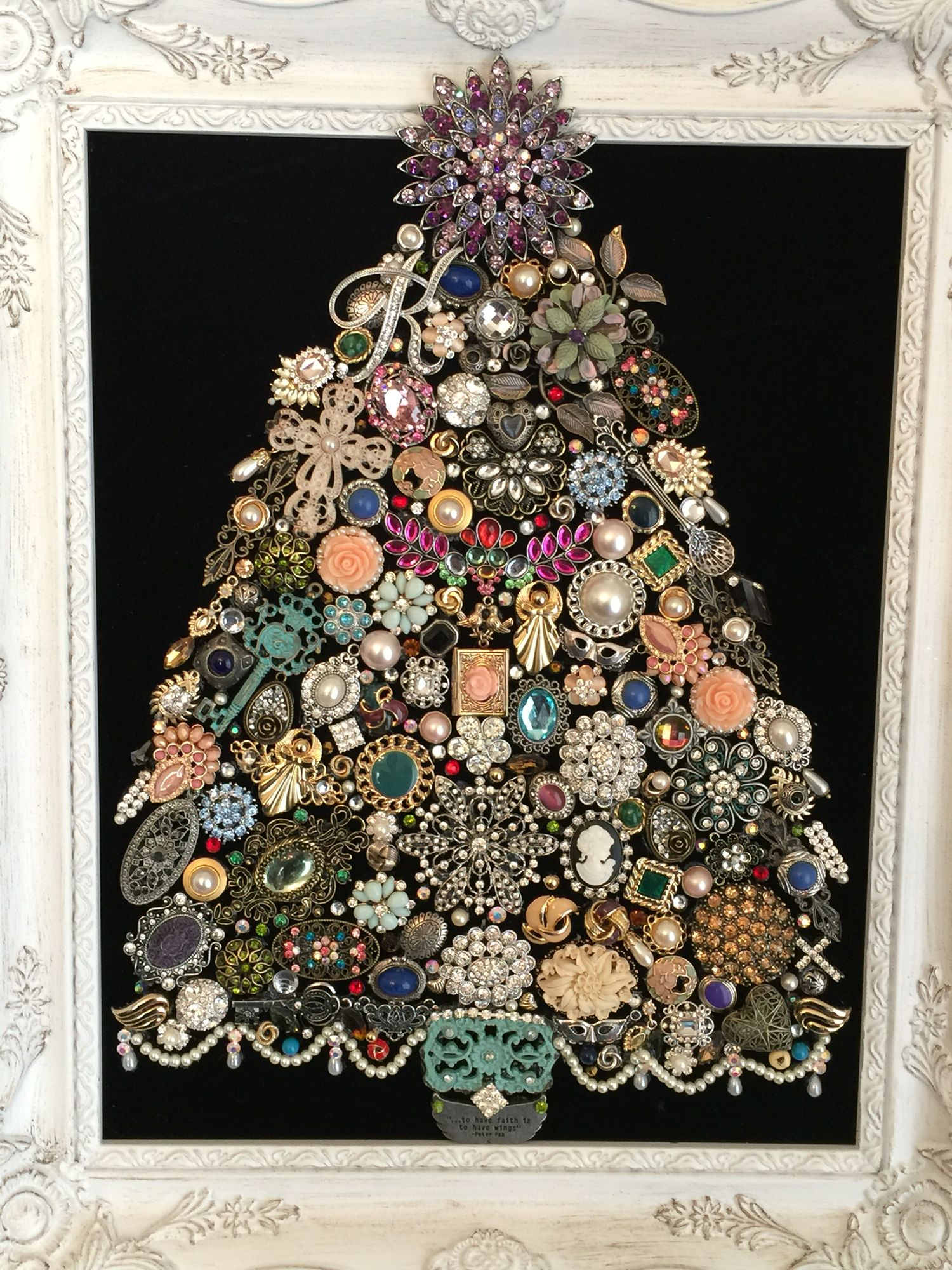 Jeweled Christmas tree for my mom in remembrance of my sister who ...