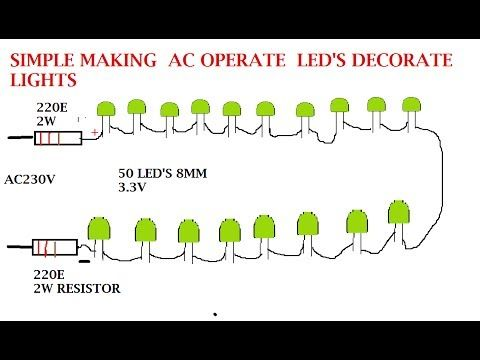 How To Make Led Light Bulb 220v Without Transformer Youtube Led Led Lights Lights