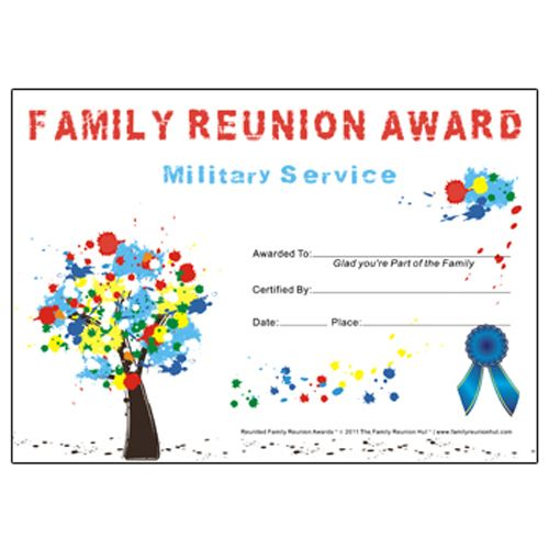 family reunion hut military service award tree graffiti theme free family reunion certificate template
