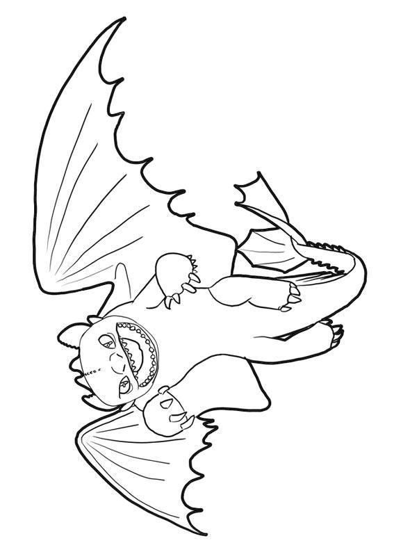 33 Disegni Di Dragon Trainer 1 E 2 Da Colorare Jak