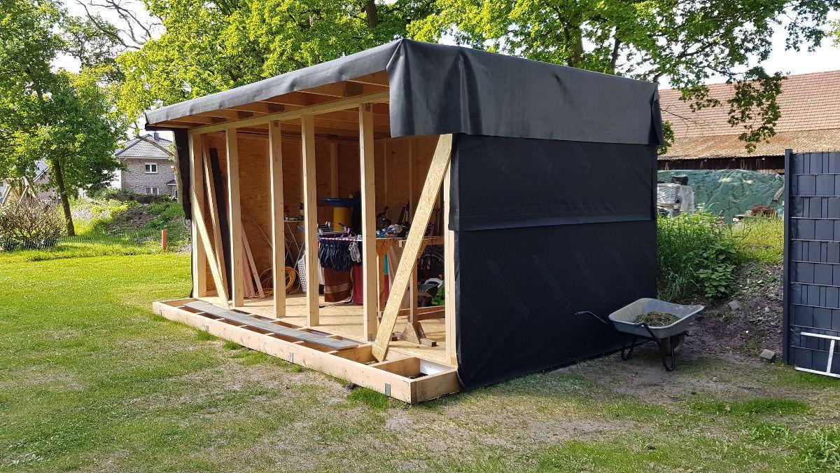 Unser Neues Gartenhaus Werkstatt Heimwerker Helden De Holzhutte Garten Holzhaus Garten Gartenhaus