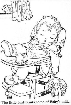 Coloriages de b b dans une chaise haute coloriage pour - Quand mettre bebe dans une chaise haute ...