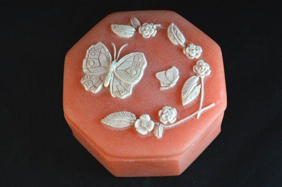 Design Gifts International Inc Pink Ceramic Marbled Trinket Jewelry