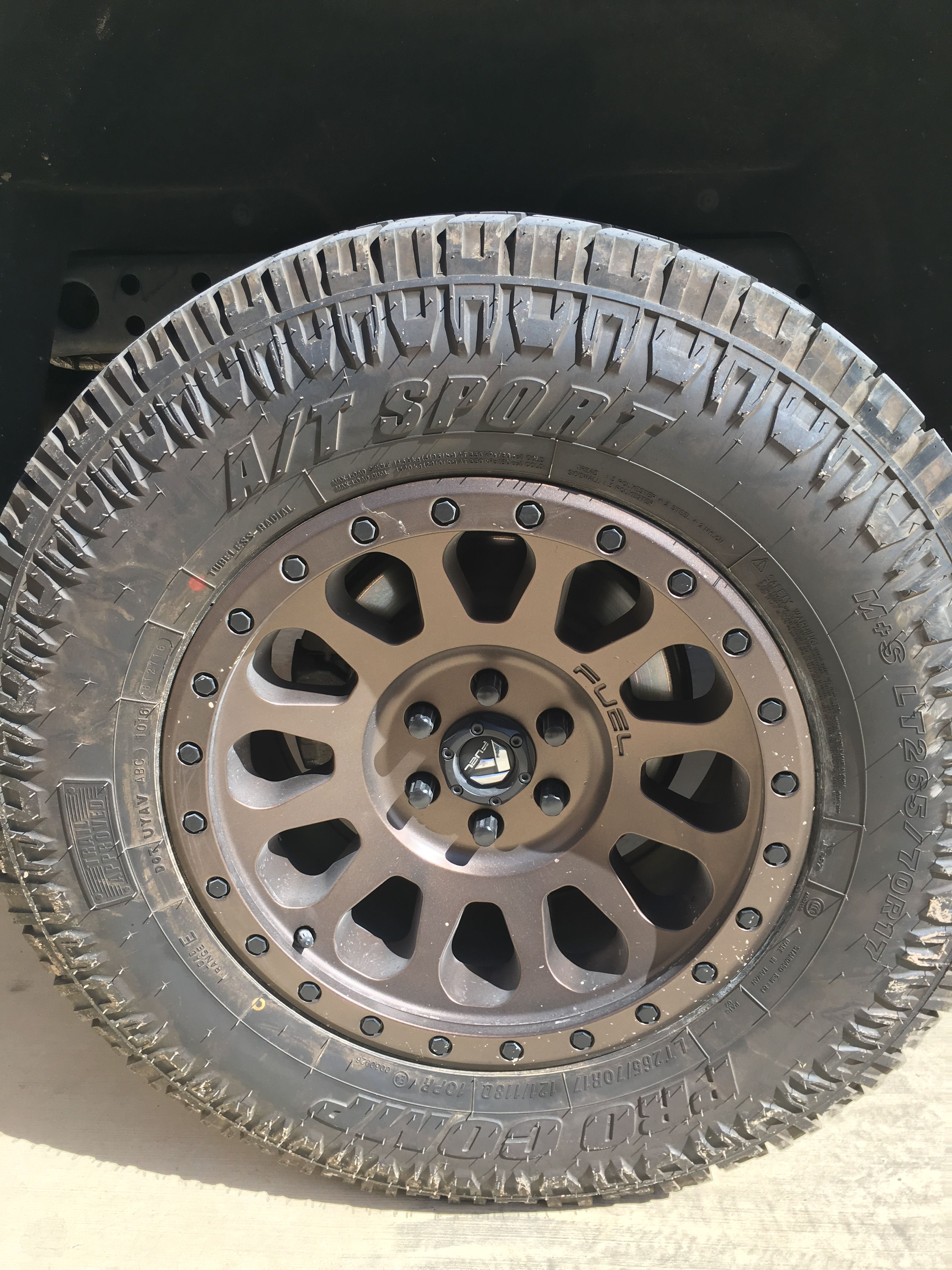 Fuel Off Road Wheels Powder Coated Beaver Bronze Bow