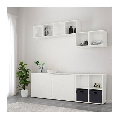 eket combinaison rangement avec pieds blanc combinaisons ikea et rangement. Black Bedroom Furniture Sets. Home Design Ideas