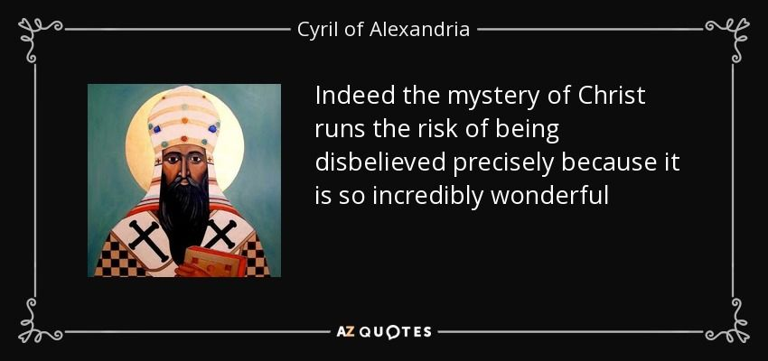 Image result for cyril of alexandria quotes
