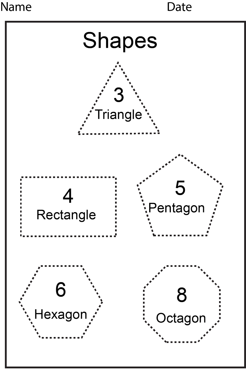 The Introduction Of Shapes And Sides Are Considered