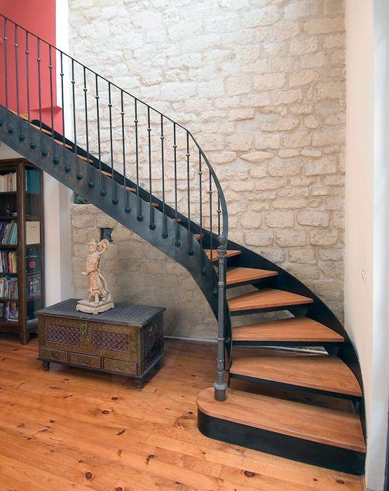 Photo dt33 esca 39 droit 1 4 tournant escalier d 39 int rieur balanc m - Decoration escalier d interieur ...