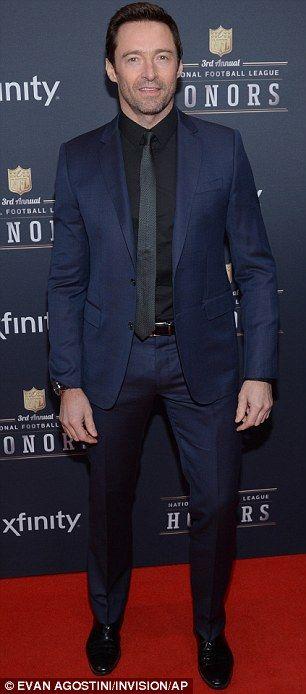 Hugh Jackman mingles with models at NFL Honors ceremony   Models ...
