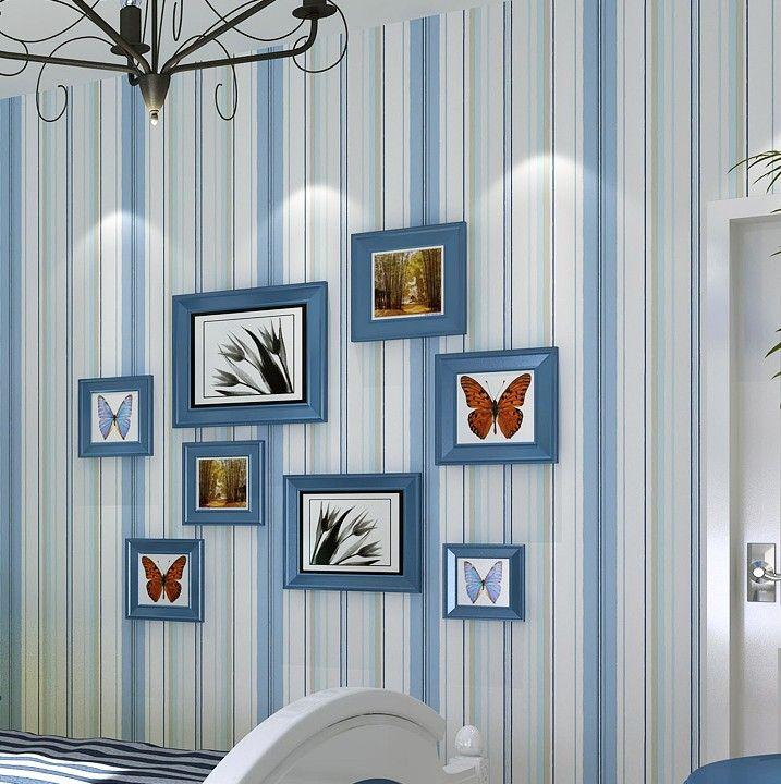 Custom Wood Striped Wallpaper Vintage Wood Design PVC Wallpapers