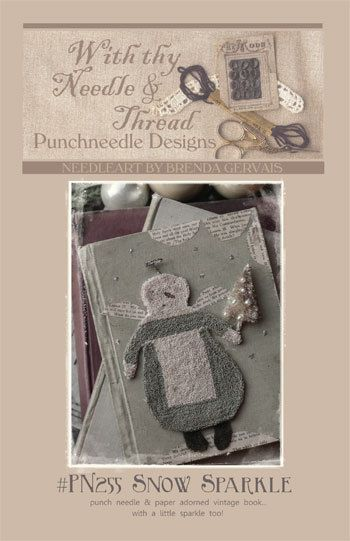 Clearance Snow Sparkle Punchneedle Instructions And Weavers Cloth By