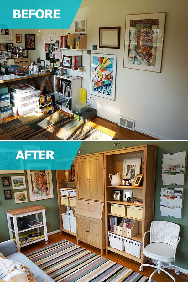 In The Ikea Home Tour Craft Room Makeover Bob And Judy Lacked Storage To Keep Paints Accessories Their Organized