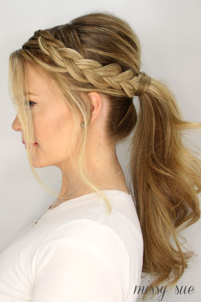 Updo Braided Ponytail Hairstyles Hair Braided Ponytail