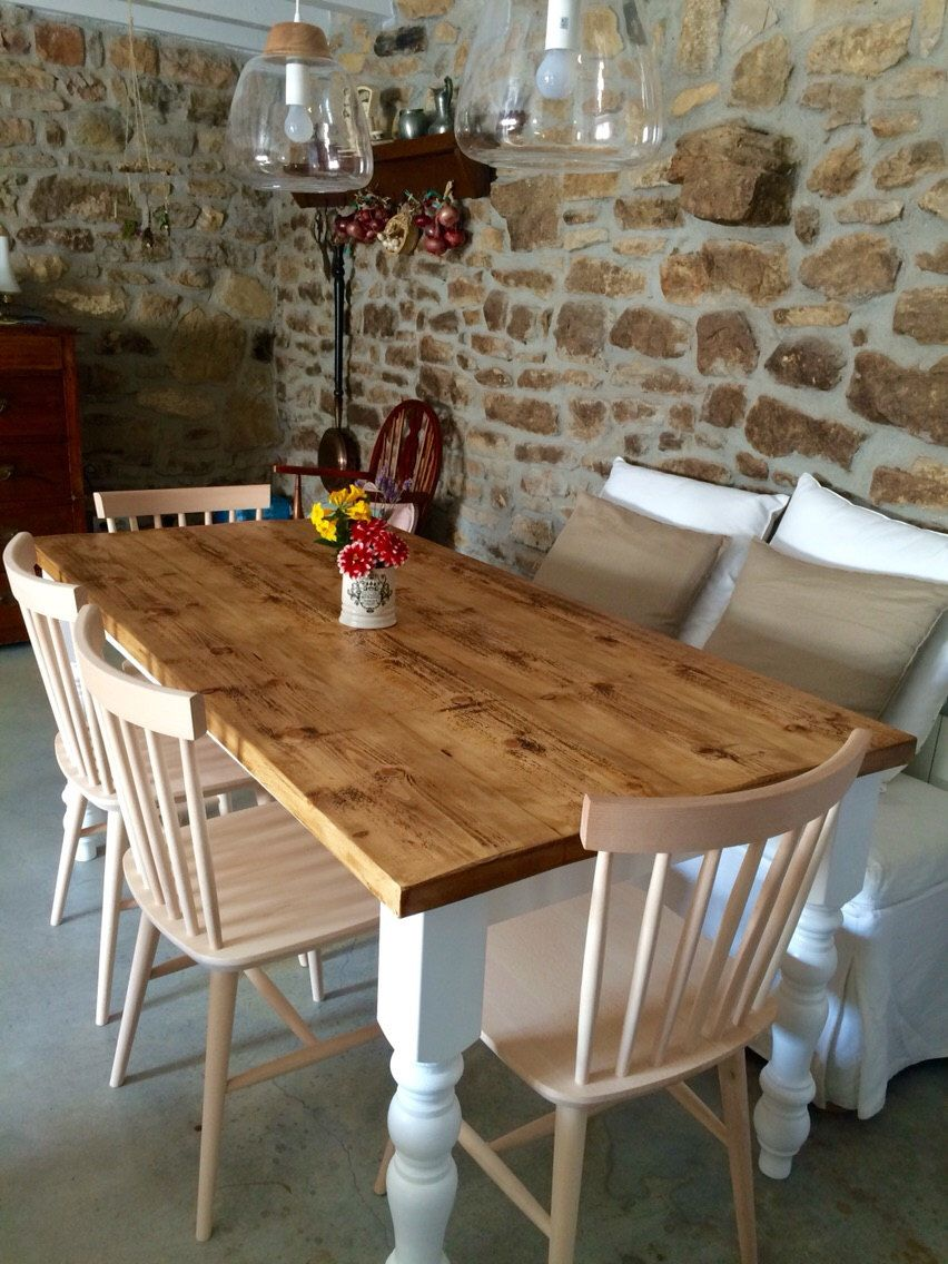 Farmhouse Kitchen Dining Table, Country Kitchen Dining