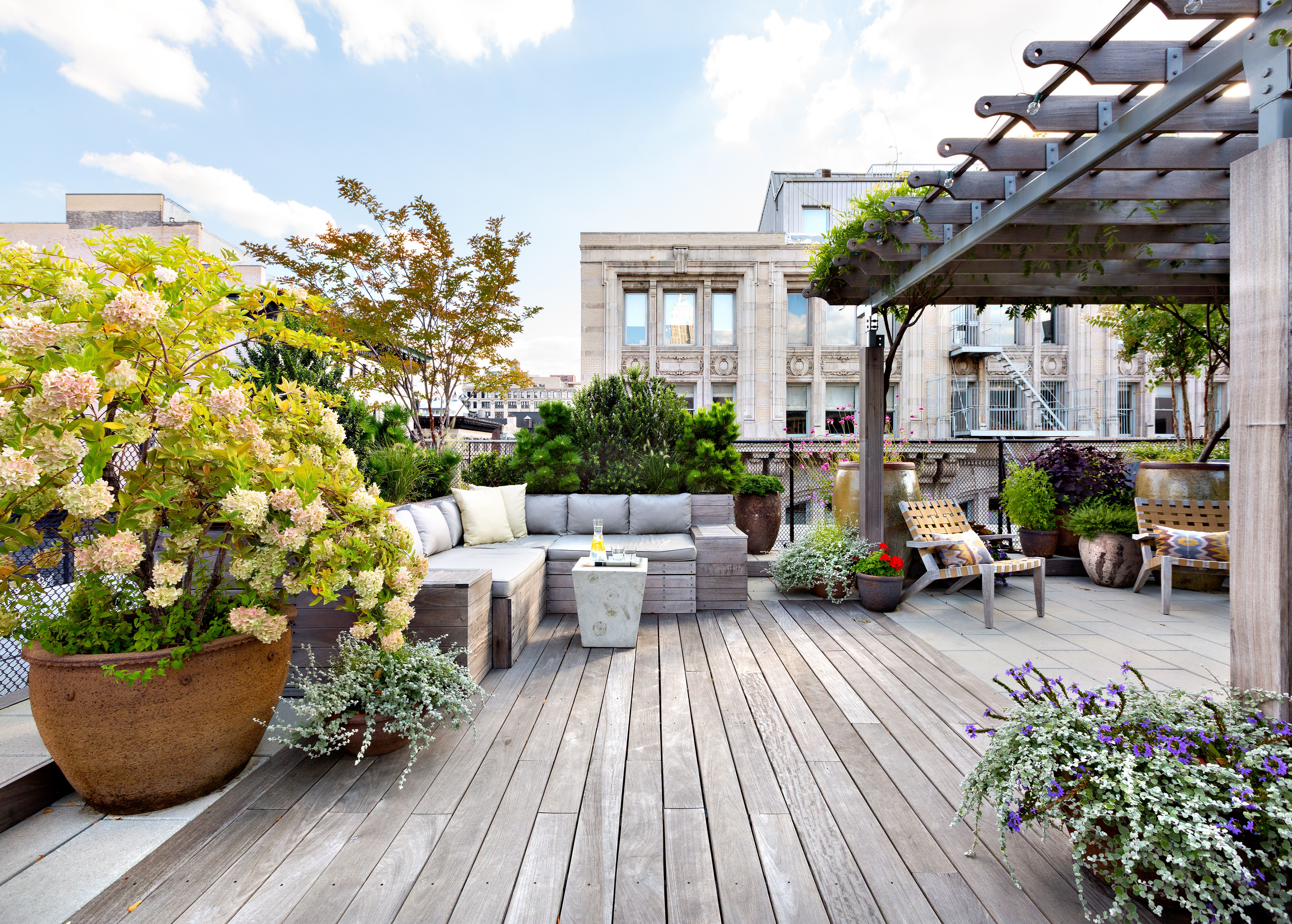 New York city rooftop terrace designed by