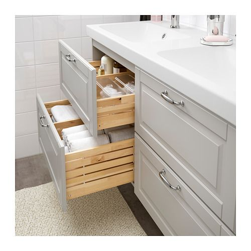 IKEA - GODMORGON / ODENSVIK Sink cabinet with 4 drawers Kasjön light ...