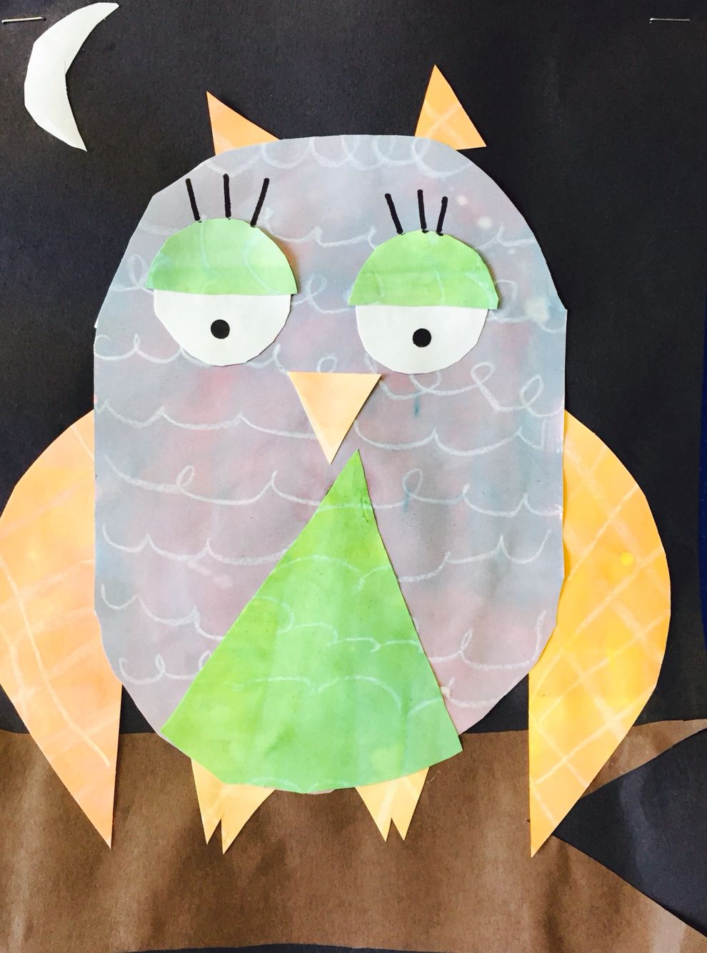 Second grade owls, emphasis on secondary colors, geometric shapes ...