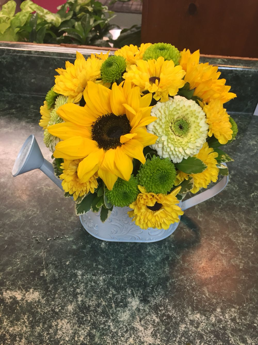 Pin by brittany clements on my floral designs pinterest floral daisy flower arrangements floral designs flower arrangement margarita flower bellis perennis floral arrangements daisies izmirmasajfo