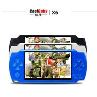 coolboy x6 intelligence console handheld game consoles 8gb 4 3 inch video game console with mp3. Black Bedroom Furniture Sets. Home Design Ideas
