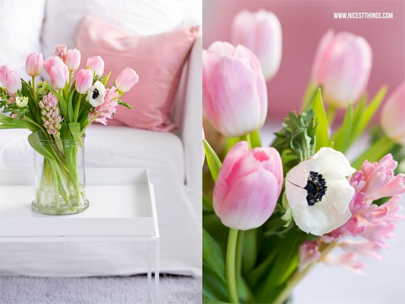 bouteille de bkr, la tendance bouteille de boisson et décoration de printemps en rose