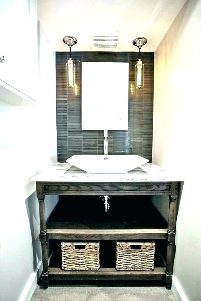 Unique Powder Room Vanity Cabinets