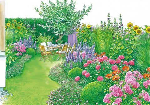 kleiner garten im japan oder landhausstil garden plans. Black Bedroom Furniture Sets. Home Design Ideas