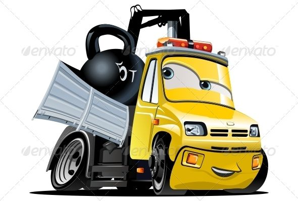 Vector Cartoon Tow Truck #GraphicRiver Vector Cartoon Tow Truck. Available hi-res JPG , EPS-10, CDR -12, SVG and AI-CS4 vector formats separated by groups and layers for easy edit. Also you can check at my Collections: Vector Cartoon Cars Vector Cartoon Trucks Detailed Vector Cars modern and retro Detailed Vector Trucks Vans Tractors and Pickups Detailed Vector realistic and cartoon styled Buses Vector aircrafts, airplanes, retro, modern, blueprints, silhouettes and aerial backgrouds…