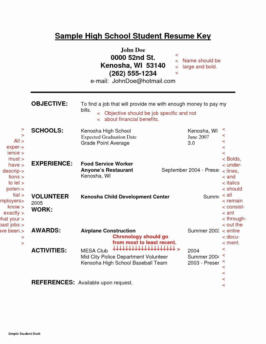 Resume For Restaurant Job Luxury For Freshman Examples New Entry Level Sorority 0d