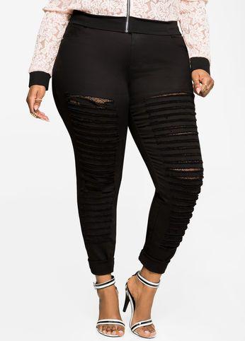 43b829be9a8 Lace Lined Slit Skinny Jean Lace Lined Slit Skinny Jean