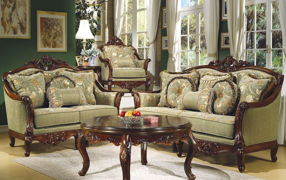 Homey Design - Frosinone Sage Sofa and Loveseat Set -. Living Room ... - Homey Design Sofa Set HD 09 Facebook.com/alcovedecor We Will Beat