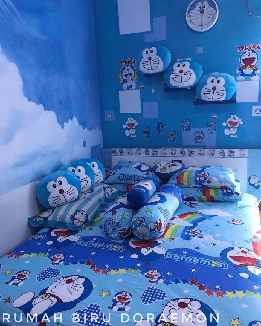 Desain Kamar Tidur Serba Doraemon Cek Bahan Bangunan