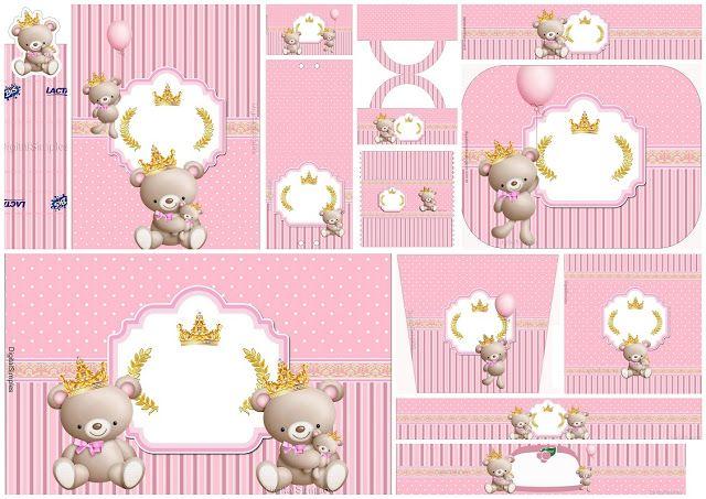 Princesa Osita de Peluche: Etiquetas para Candy Bar para Imprimir Gratis.
