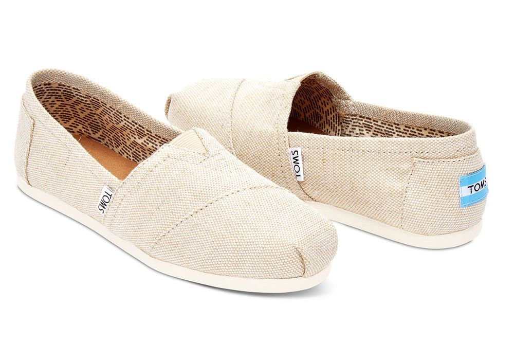 afb8c91321e TOMS Natural Metallic Burlap Classics Vegan Women s Shoes. STYLE   10008015   TOMS  Flats