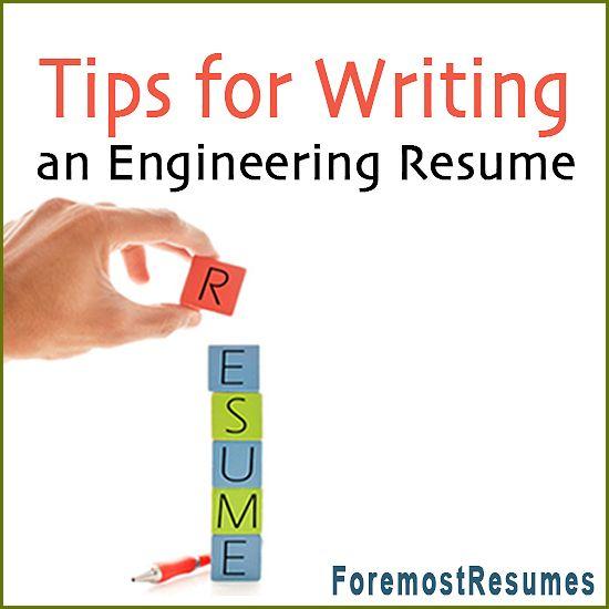 Engineering Resume Writing Tips Sample resume - engineering resume tips