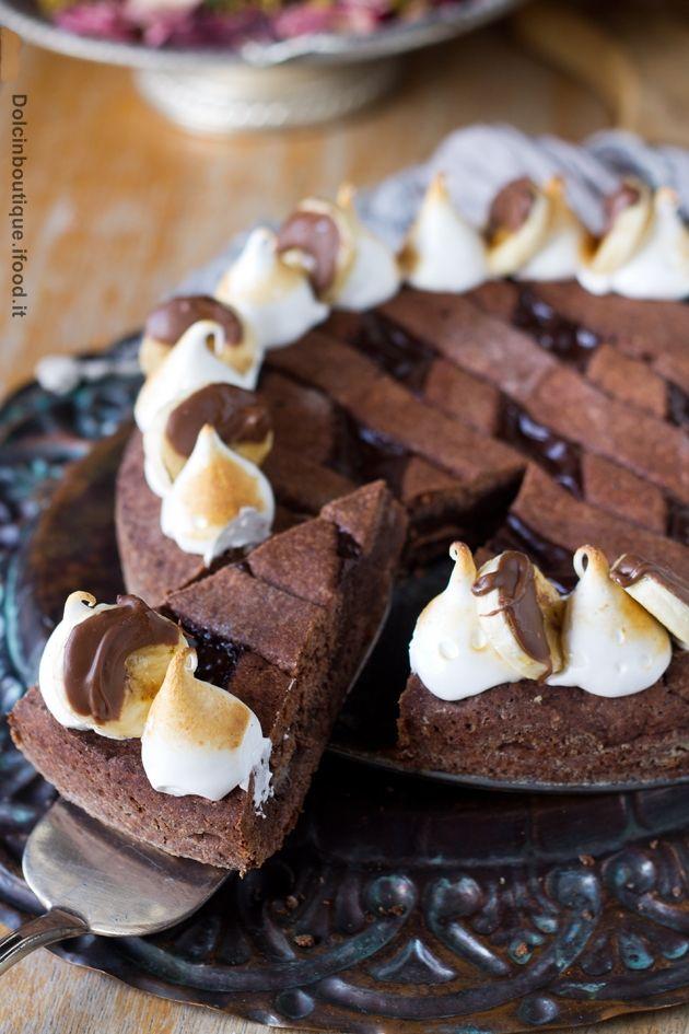Crostata cioccolato e banane