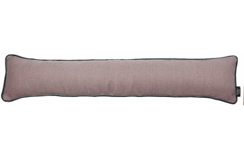 Brambly Cottage Kian Draught Excluder Stainless Steel Doors Fabric Door Stop Pink Grey