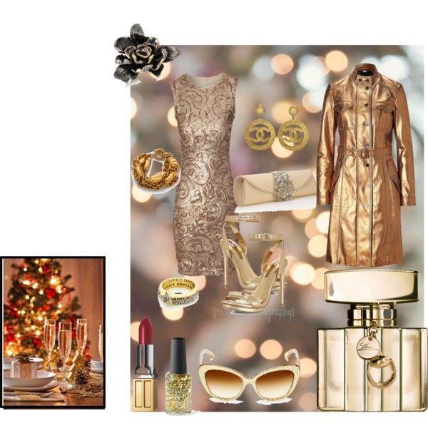 """31/12/2013 Gold Night!"" by cristina-barberis on Polyvore"