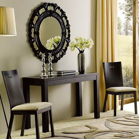 Clever ideas for small room side table cum dining if for Living room designs with dining table