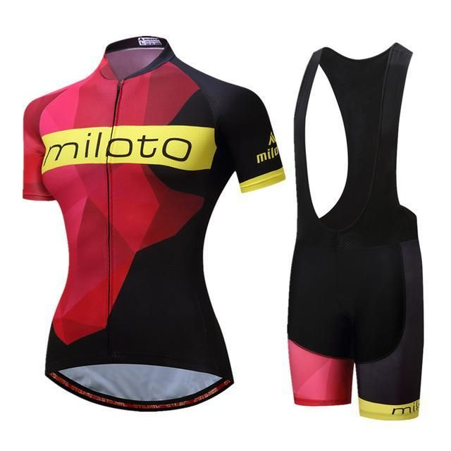 Miloto Women S Short Sleeve Cycling Jersey Roupa Ciclismo Breathable  Bicycle Cycling b2bba6278