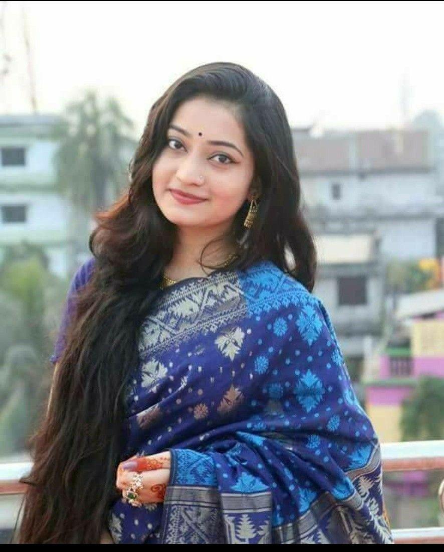 Pin by Nisha on Saree styles | Long hair girl, Beautiful long hair, Long hair styles