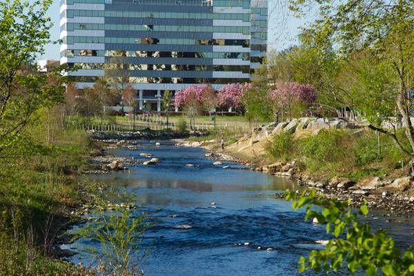 10 Awesome Riverbank Projects Park Landscape River Park Landscape Architecture