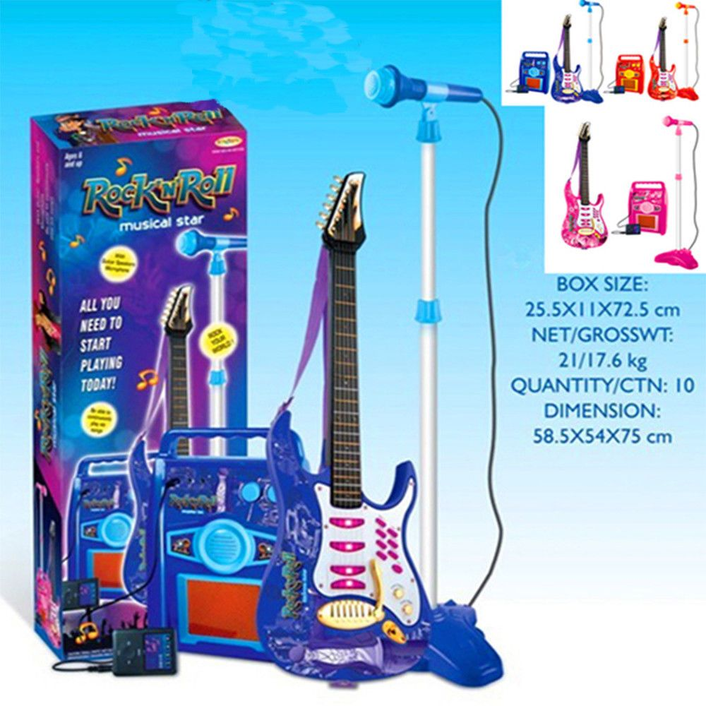 Children/'s Toy Guitar Musical Instrument Teaching Creativity Free Shipping