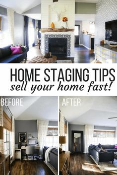 Ideas For How To Stage Your Home Quickly Free Staging Tips On A Budget And Before After Photos Of Improvement Hacks