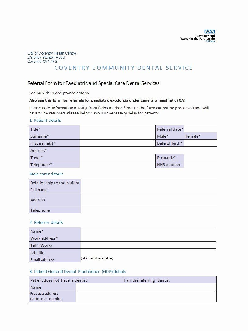 Physician Referral Form Template Beautiful 50 Referral Form Templates Medical General Template Lab Referrals Template Word Word Program